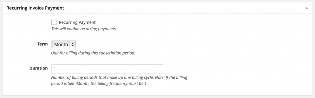 Recurring Subscription Payment Options