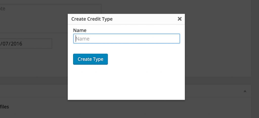 Adding a credit type