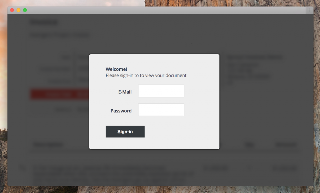 force login for estimates and invoices